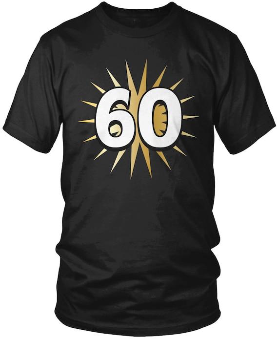 Gold Star 60th Birthday Mens T Shirt Party