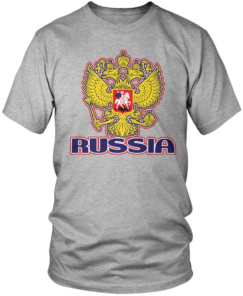 246578467 Russia Coat of Arms Men s T-Shirt Russian Flag Russian