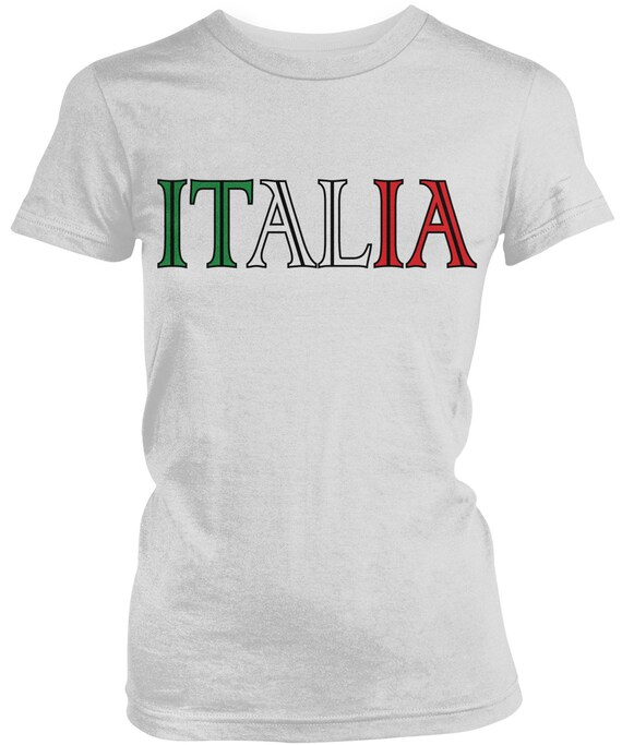Italia Italy Flag Crest Italian National Country Pride Mens T-shirt