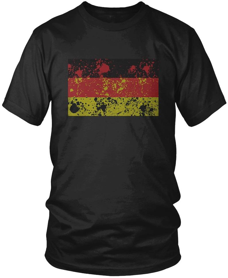 08b418667 Paint Splatter Deutschland Flag Men s T-Shirt German