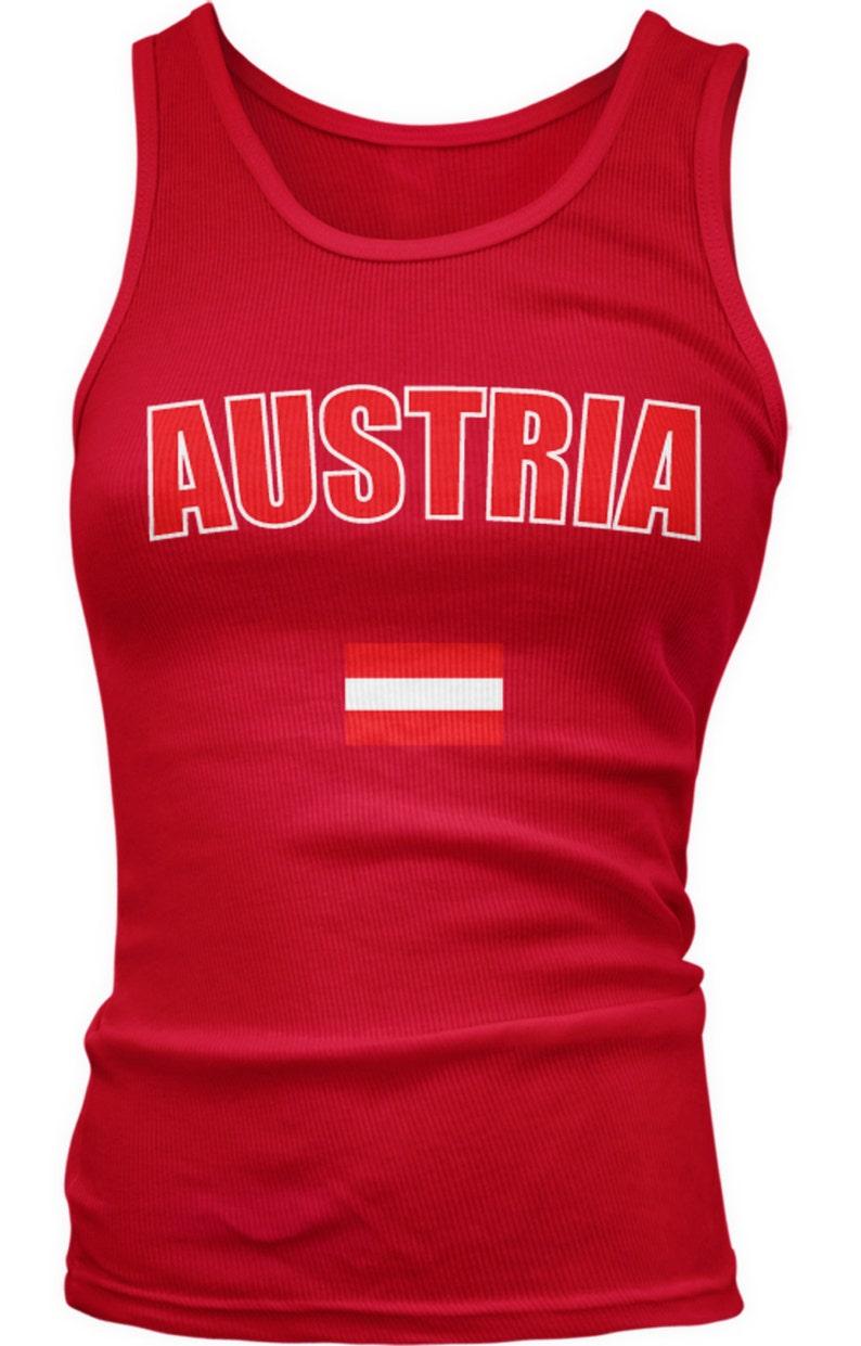 763cf589f23 Austria Country Flag Ladies Juniors Tank Tops Austrian Pride | Etsy
