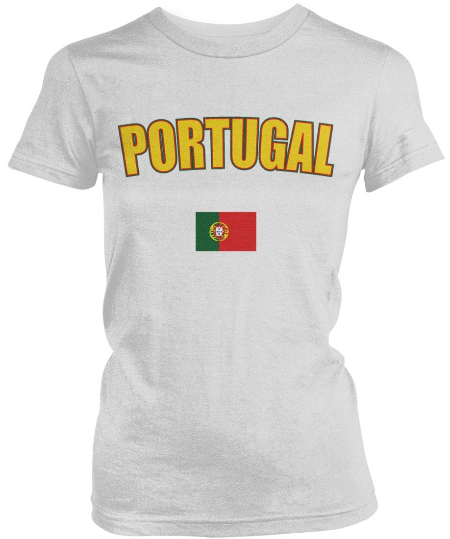 Bold Portugal Country Flag Ladies Juniors T-shirt Portuguese Flag Portuguese Republic Ladies Juniors Portugal Soccer Shirts Amd_por_08 Unisex Tshirt