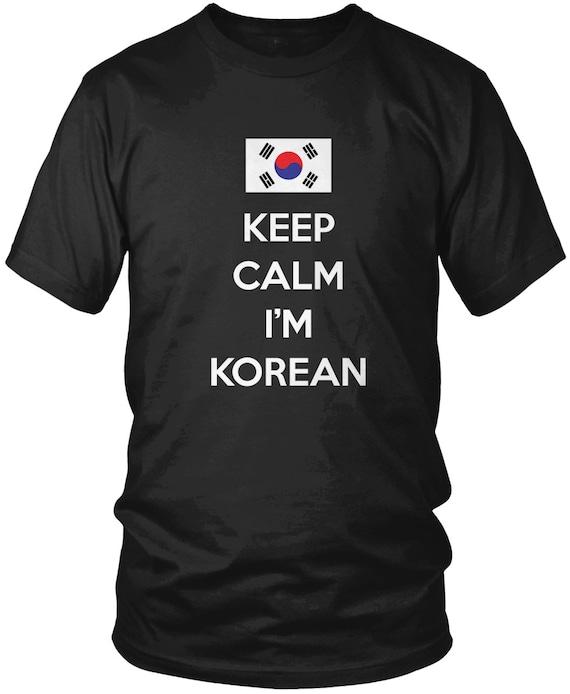 2cb5c7008 Keep Calm I'm Korean Men's T-Shirt Korea Country | Etsy