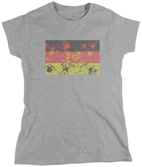 Threadrock Women/'s Germany National Team T-shirt Berlin Flag
