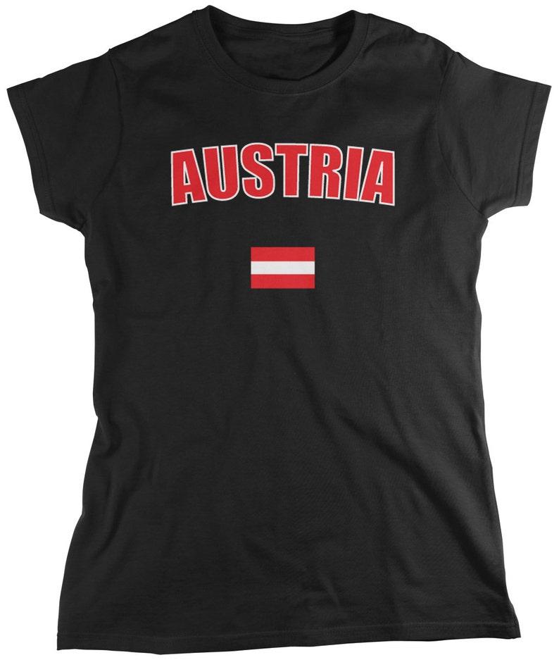 68753190bc8 Bold Austria Country Flag Ladie's T-Shirt Austrian Pride | Etsy