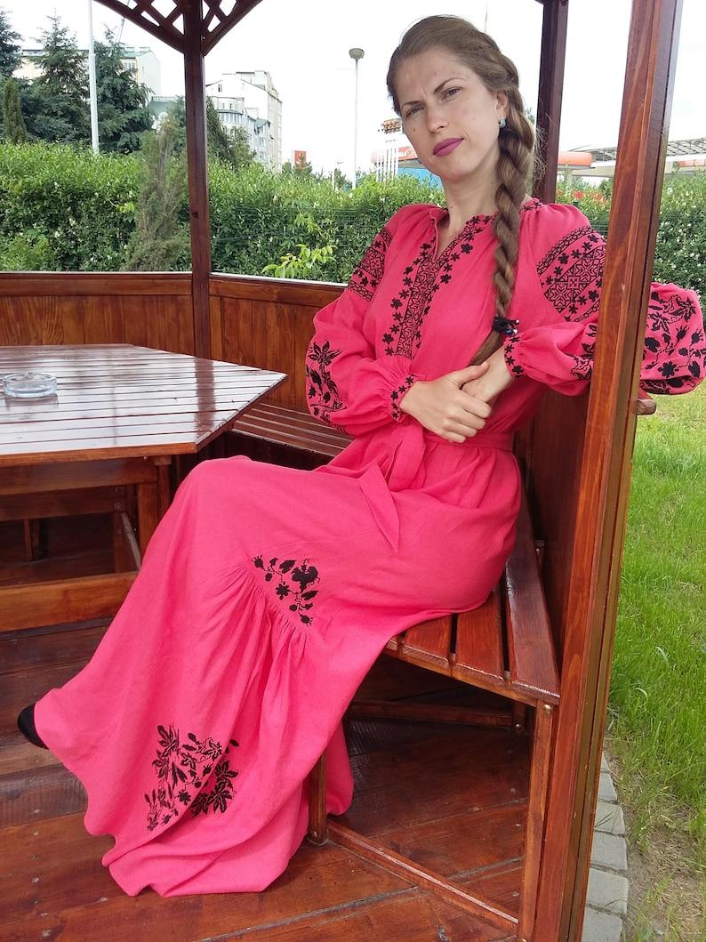 81190a88c7b Embroidered Linen Dress Vyshyvanka dress Ukrainian embroidery