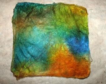 Hand-painted silk-hankie Monte Arcosu