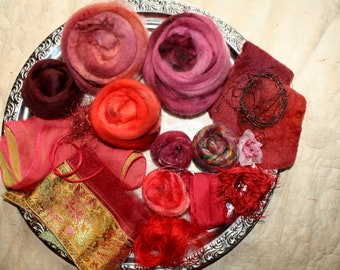 85 gr material - package wool / silk - Alladin - for spinning Art Yarns or for felting and many other creative projects