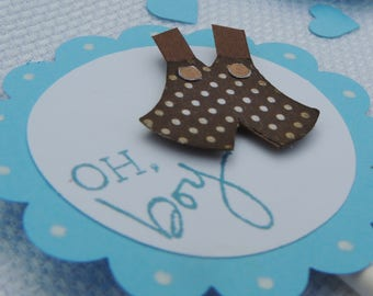 Oh Boy cupcake topper, Gender reveal party, Baby Shower decorations, Baby Boy cupcake picks