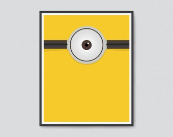 picture relating to Printable Minion Eye known as One particular eye print Etsy