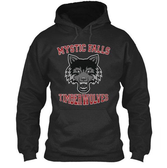 Mystic Falls Timberwolves Hoodie Vampire Diaries Inspired Etsy