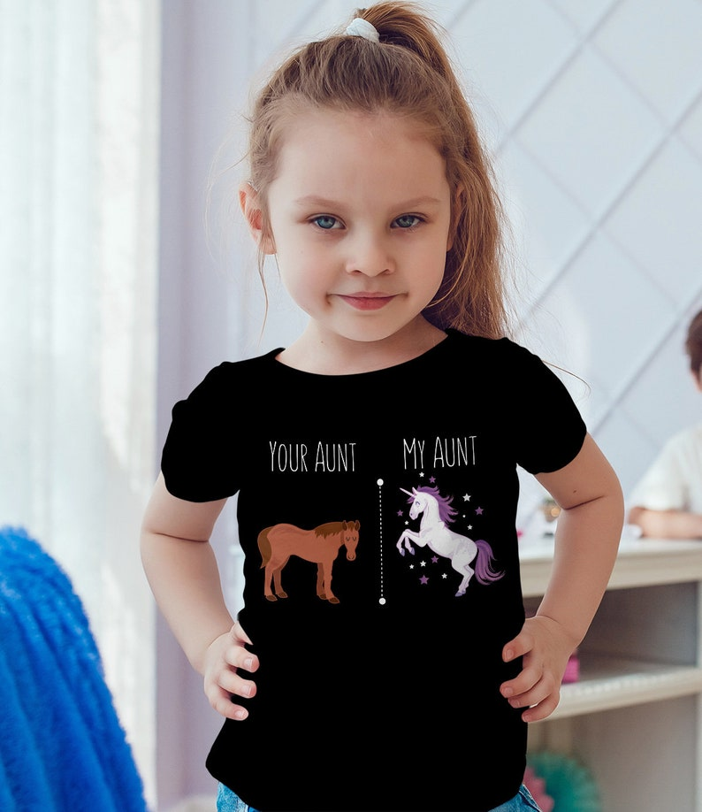 3d5f1bb3 Your Aunt My Aunt Horse Unicorn Funny T-Shirt For Cool Crazy | Etsy