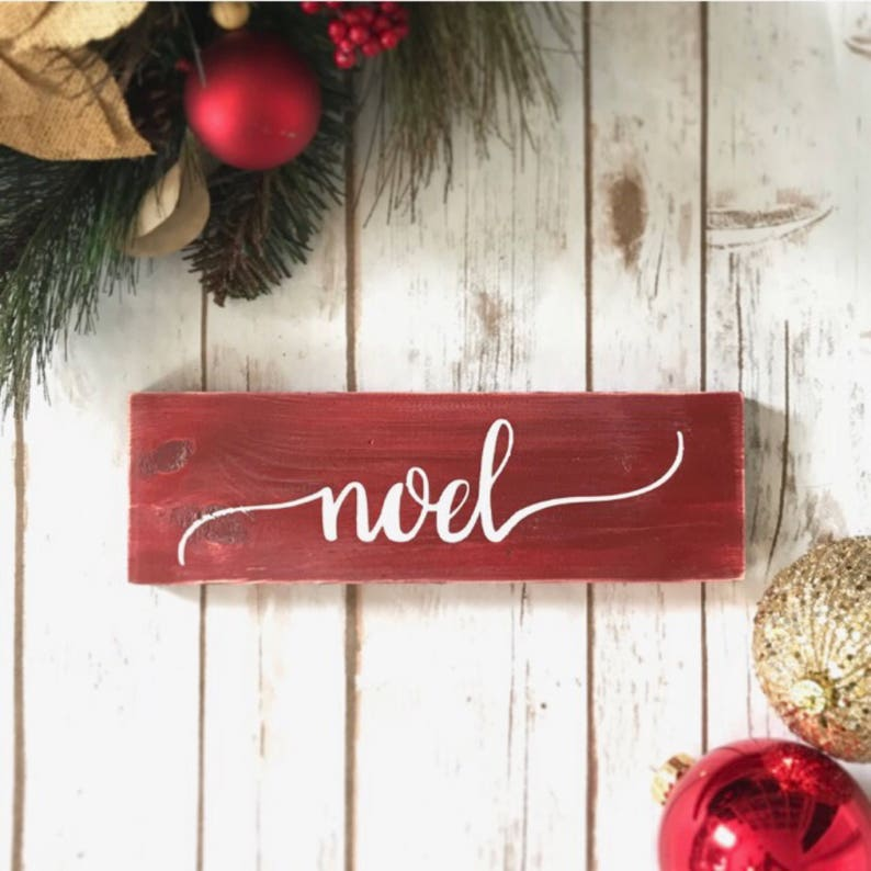 Peace Christmas Sign.Noel Christmas Sign Set Rustic Decor Signs Xmas Decorations Farmhouse Christmas Decor Christmas Wood Sign Joy Peace Christmas Eve