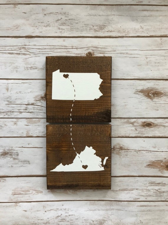 Connecting States Signs Vertical Moving Out Of State Gift Etsy