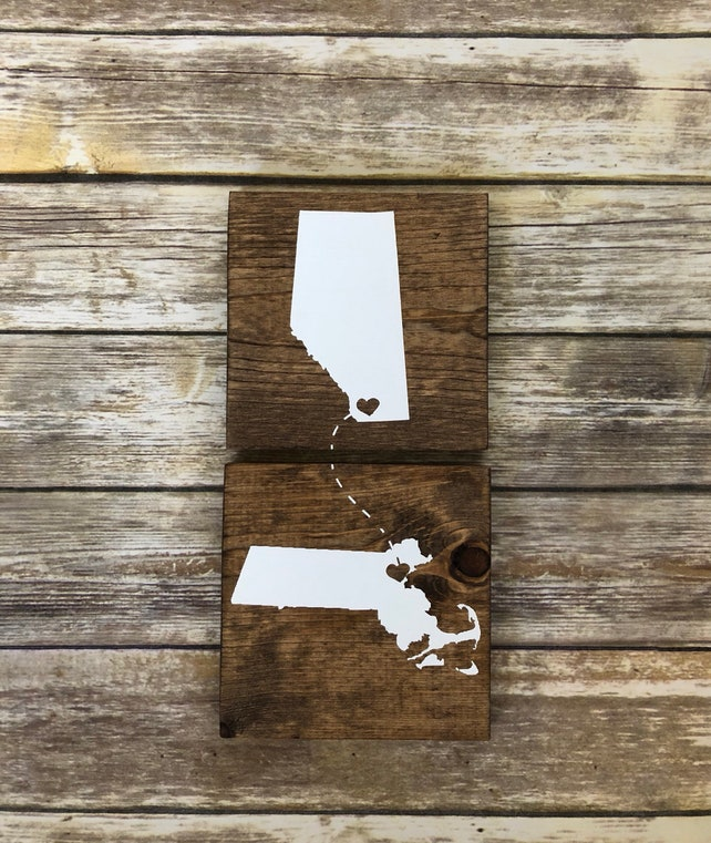 Connecting States Signs Vertical Moving Out Of State Gift Unique