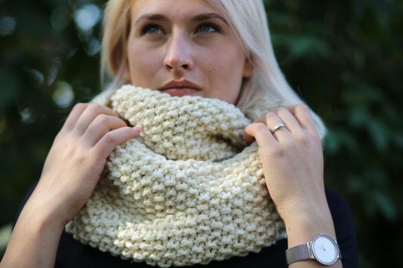 Stricken Sie Schal übergroße Kutte warme Winter-Loop-Schal | Etsy