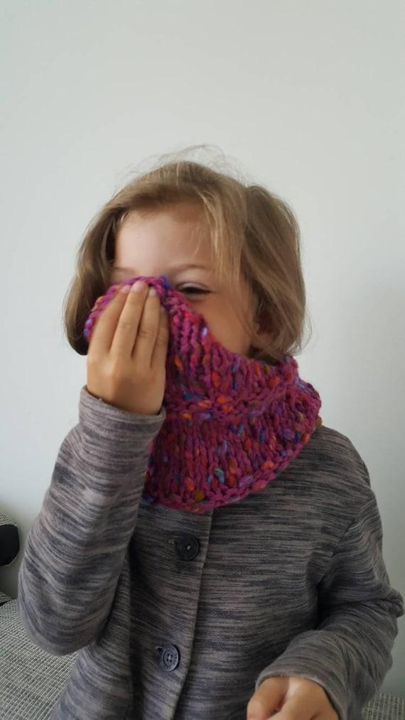 Von Hand gestrickt Kreis Schal Verkleidung für 3-4 Jahre altes | Etsy