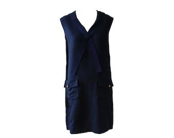c13baf53c4d Vinage Jean Patou Navy Sailor Dress 1960s