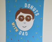 Donuts with dad poster