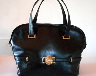 Gianni Versace Medusa Head Black Calf Leather Alma Bag.Rare Vintage 1995.  One Model Owner. Rarely Used. In Excellent c661864e1d53c