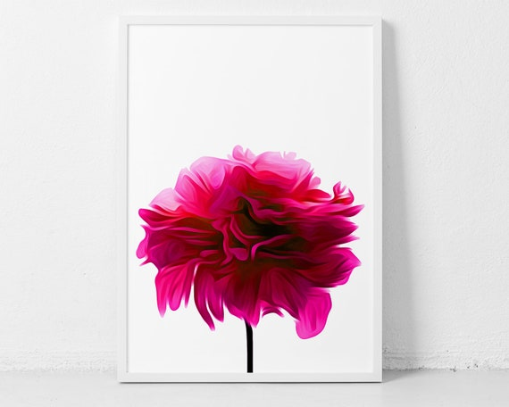 Hot Pink Wall Art for that Pop of Color in your Living Area