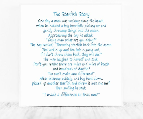 The Starfish Poem by Loren Eiseley