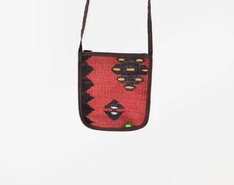 Vintage tapestry bag, 70s bohemian bag, small purse, vintage carpet purse, turkish woven shoulder bag, miniature bag, ethnic bohemian bag