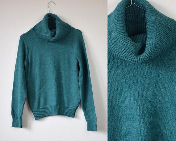 b7dffdeaf6 Vintage turtleneck sweater turquoise turtleneck long sleeved