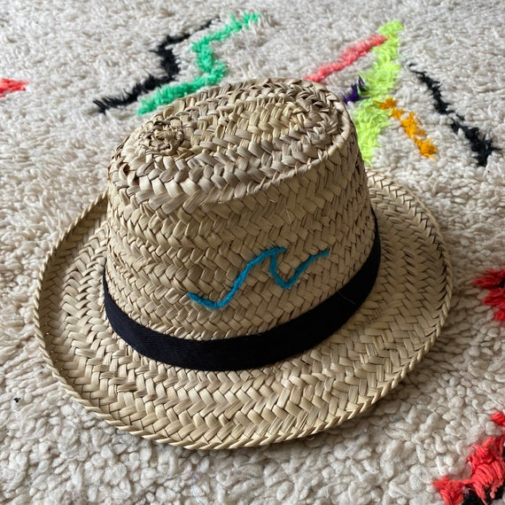 Personalised children's Moroccan straw sun hat
