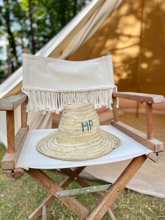 Personalised adult Moroccan straw sun hat