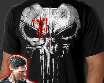 e1f976c9c The Punisher New Skull Jon Bernthal Frank Castle Body Armor Painted T-Shirt  S-6XL