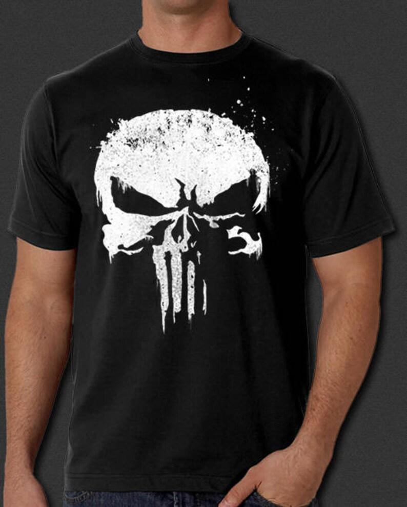 8dc7b5899 The Punisher New Skull Logo Daredevil Netflix T-Shirt S-6XL | Etsy