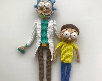 Rick and Morty By: Notyourgrandmascrochet (instagram) | Things to make with  yarn, Crochet projects, Crochet dolls | 270x340