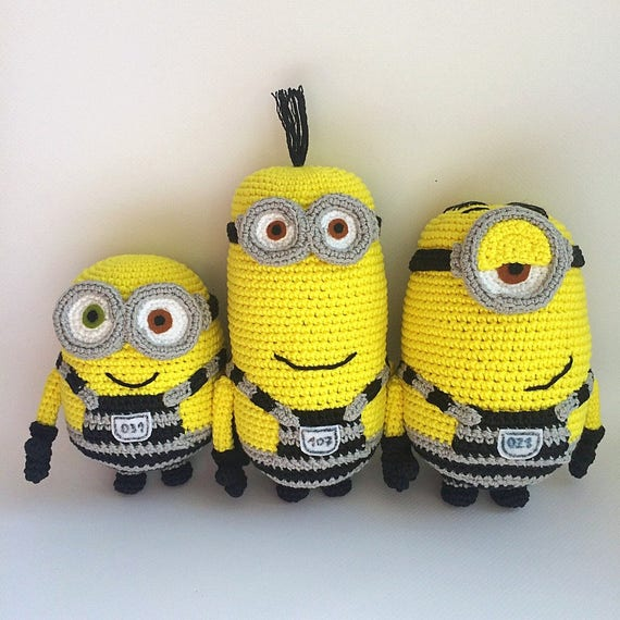 Minions From Despicable Me Cartoon Pdf Crochet Pattern Etsy