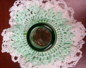 Green with White Frill Scrunchie, For Girls, For Women, Hair Accessory