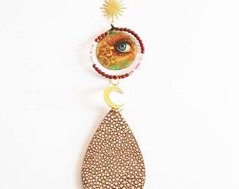 keychain Eye Moon Sun Drop