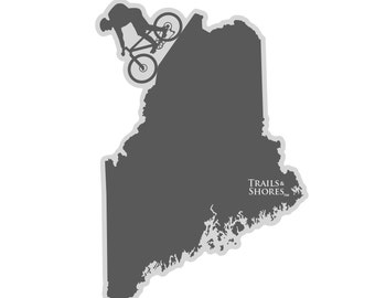 Maine Mountain Biking Decal