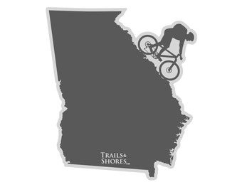 Georgia Mountain Biking Decal
