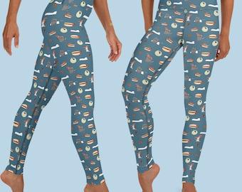 Halloweener Leggings - Spooky Doxie Leggings - Halloweenie Leggings - Sausage Dog Leggings - Yoga Leggings for Dachshund Lover