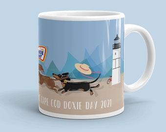 Doxie Day Races Mug - Happiness is a Dachshund Mug - Teckel Races Mug - Sausage Dog Races Mug