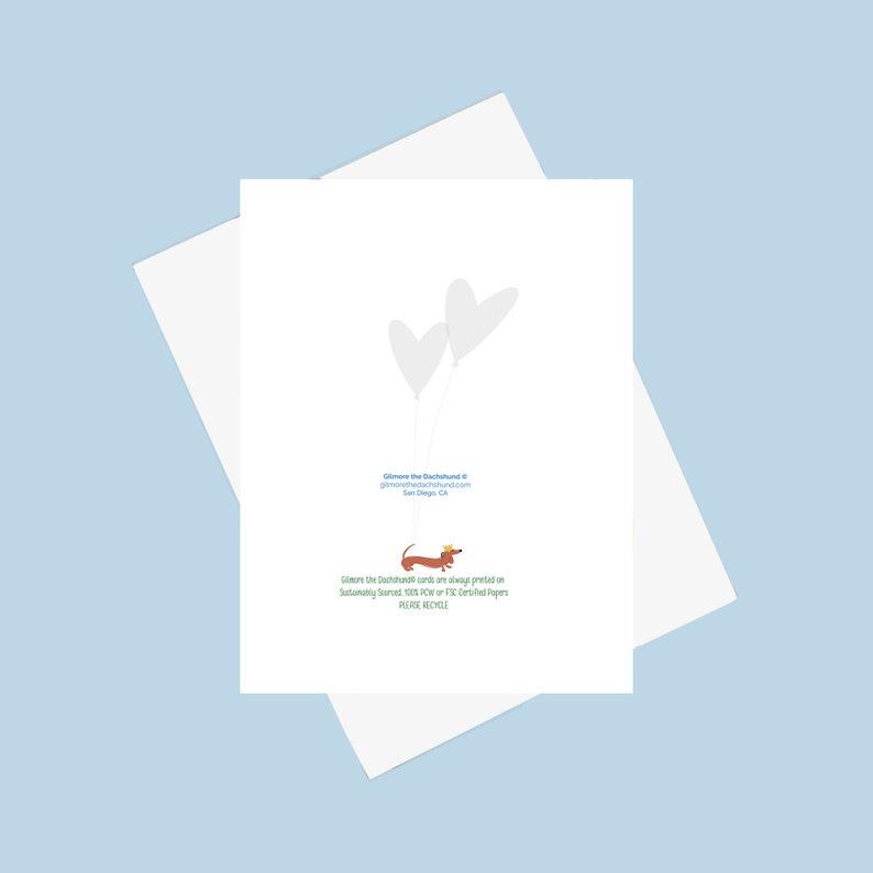 Dog Lover Card Dachshund Wiener Card Doxie Love Card Missing you Card