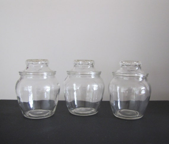 Vintage Glass Jars With Lid Glass Apothecary Jars With Lid Bathroom Storage Jars Bathroom Decor Kitchen Storagecandy Jars
