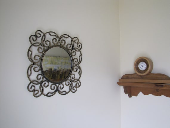 Vintage Wall Mirror Metal Ornate Mirror Ornate Fancy Mirror Etsy