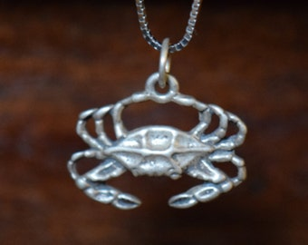 Crab #2 - Sterling Silver Charm - FREE SHIPPING within USA