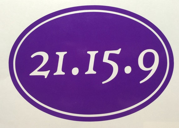 2 for 1 Crossfit RX oval sticker decal