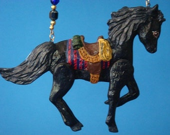 Black Western Horse