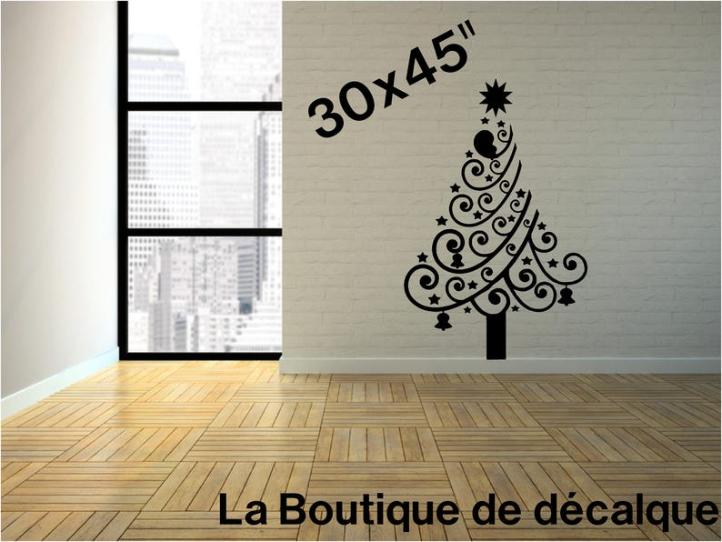 Décalque Sapin Noël Merry Xmas Treemerry Christmas Etsy