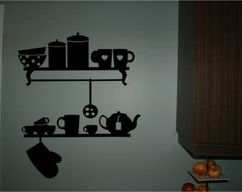Wall sticker for kitchen, kitchen decal, wall decor