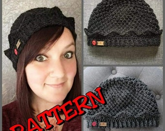 Crochet Jughead Beanie Pattern - Includes photo and video turorials for the Brim, Crown and the Dollface Stitch