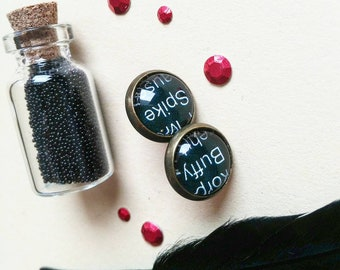 buffy spike earrings big black